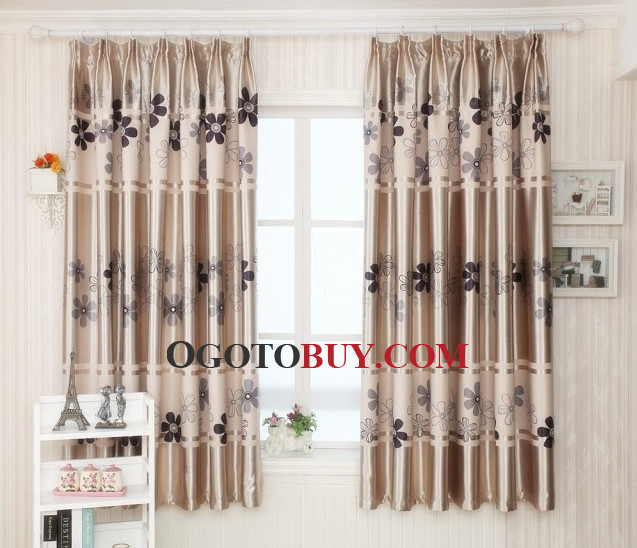 floral short bay windows country style curtains