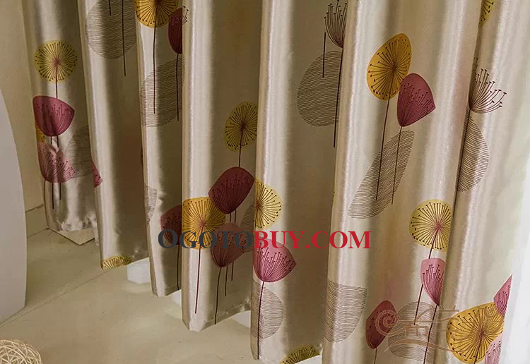 Red Leaf Energy Saving Home Best Curtains , Buy Red print Energy ...