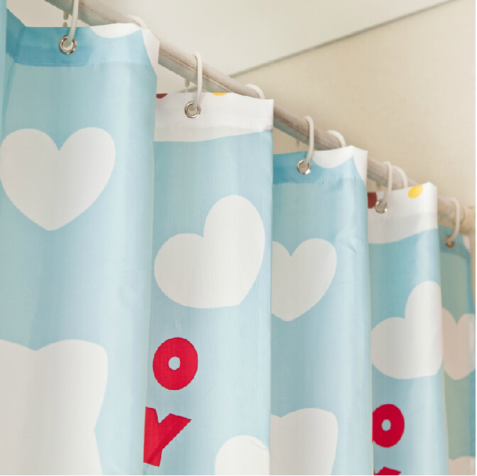 Cute Cats Kids Blue Shower Curtain For Sale