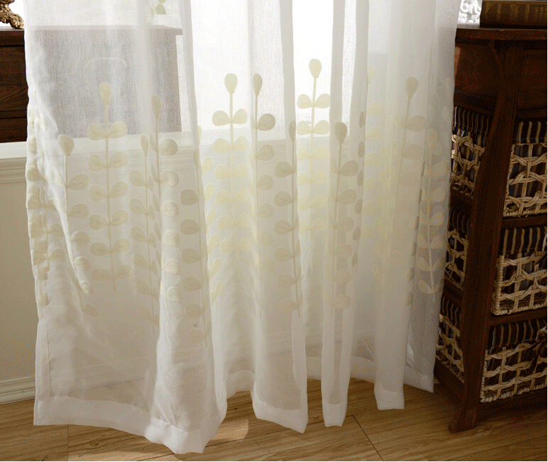 ... Original Country Cotton Inexpensive Sheer Curtains ...