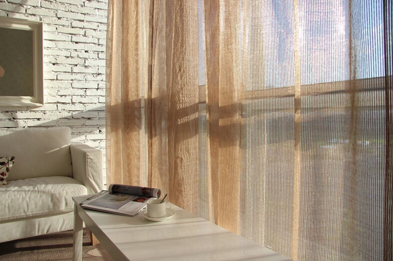 Striped Lines See-through Buy Sheer Curtains .