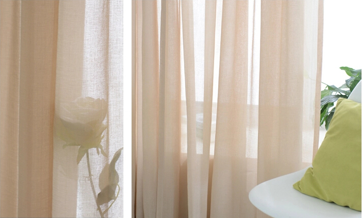 country village linen solid sheer curtains online