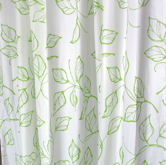Green Leaf Simple but Nice and Inexpensive Shower Curtains, Buy ...