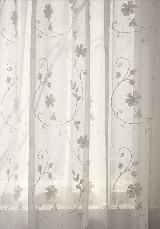 Sheer Curtains With Embroidery Best Home Design 2018