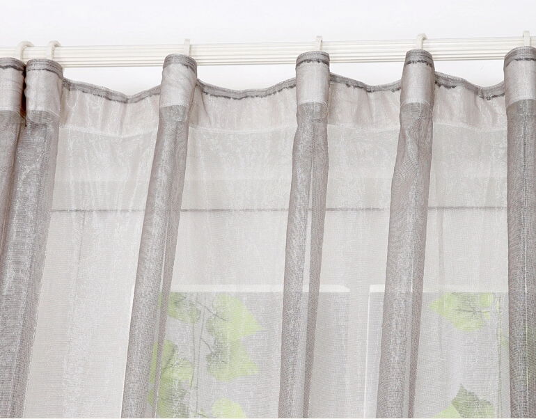 Gray Solid Living Room Sheer Curtains On Sale