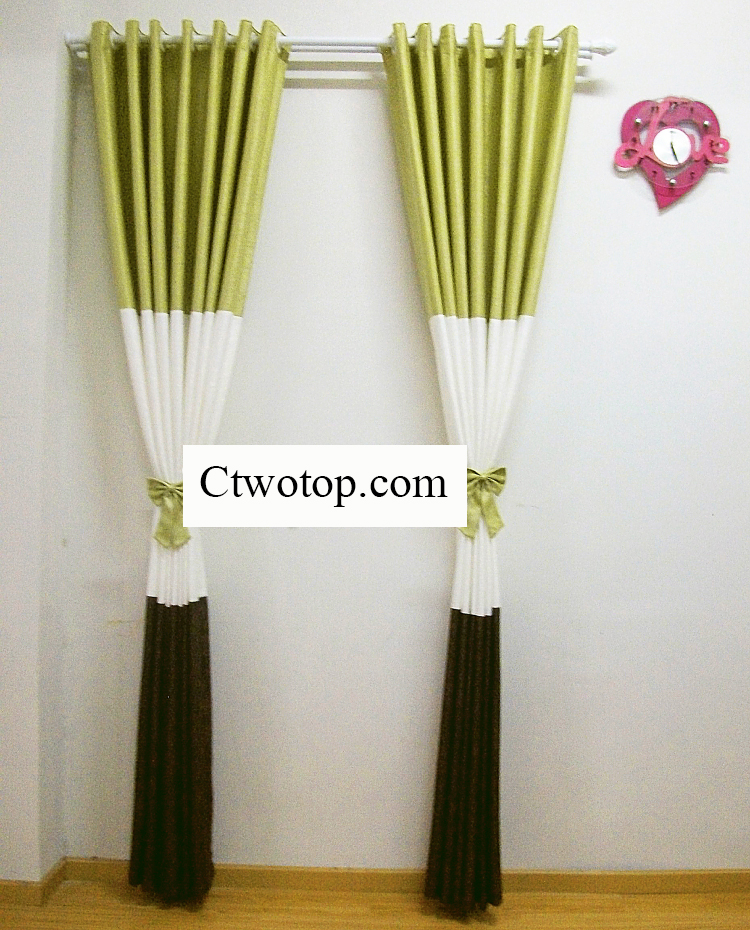 ... Charming Multi-colored Blended Materials Blackout Curtains