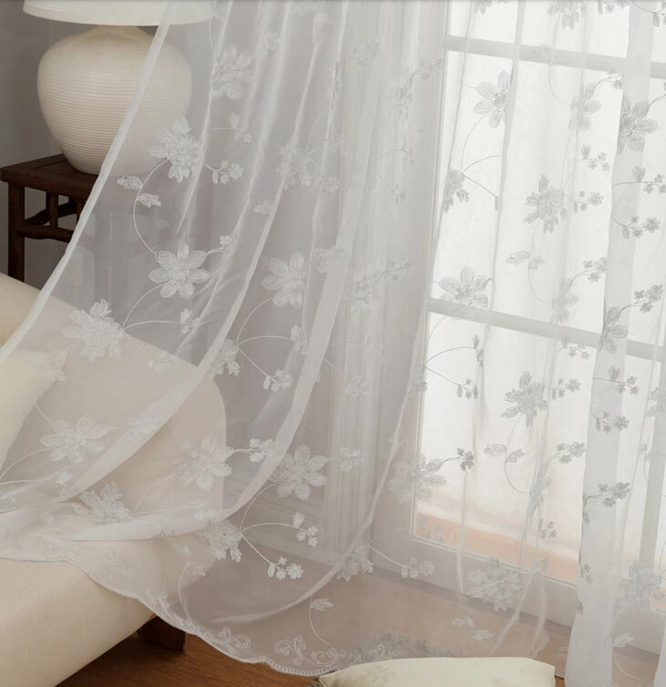10 Fresh Sheer Curtains With Embroidered Flowers Kinjenk House Design