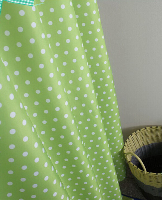 Fine Polka Dot Shower Curtain Heart Dots Mint Green Deny Designs ...