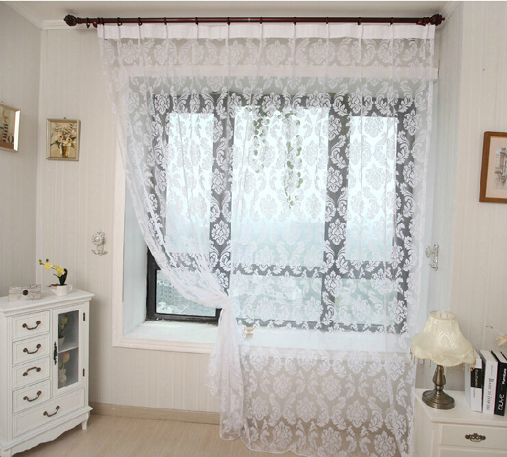 white cheap sheer curtains for living room and bedroom , buy white, Bedroom decor