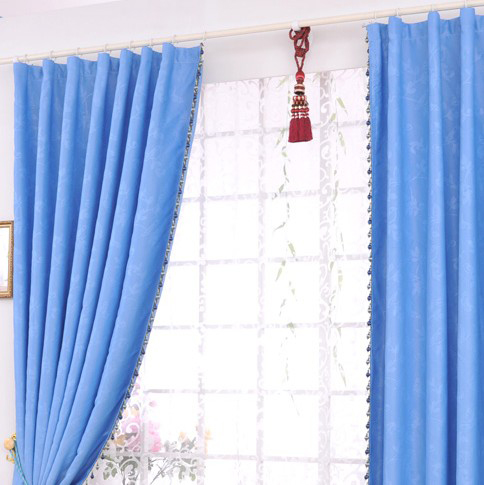 ... Nautical Feeling Blue Fully Blackout Curtains