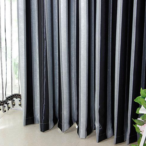 White And Grey Striped Blackout Curtains - Best Curtains 2017