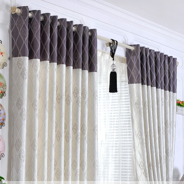 Curtains Ideas blackout striped curtains : Elegant Ivory Floral Printed Polyester Striped Ordinary Blackout ...
