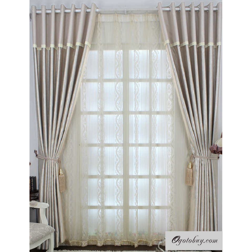 Contemporary curtains panels - Elite Modern Jacquard Pearl Pink Energy Saving Curtains