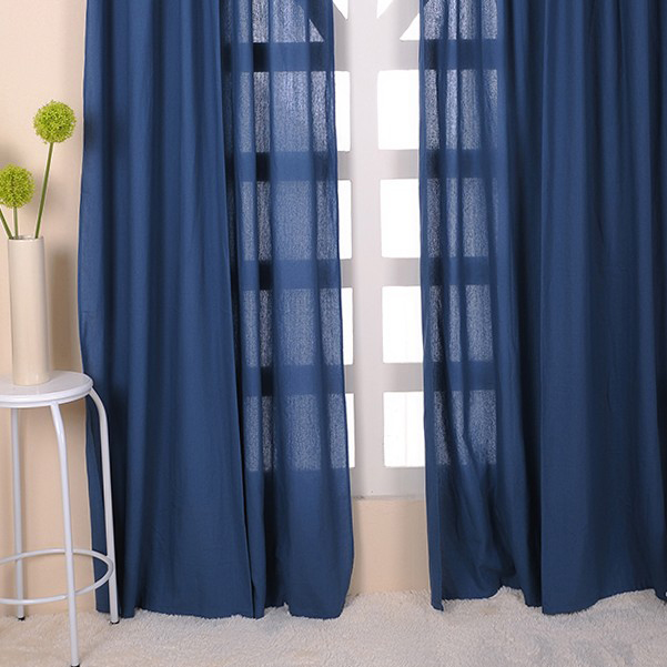 Blue Sheer Curtain | myideasbedroom.com