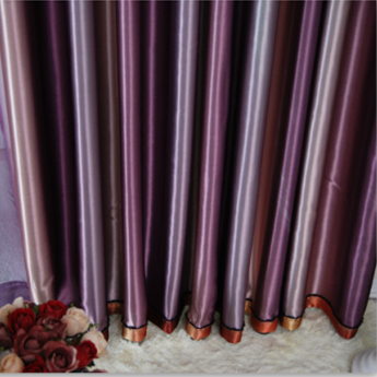Fascinating Purple Striped Polyester Blackout Curtains , Buy ...