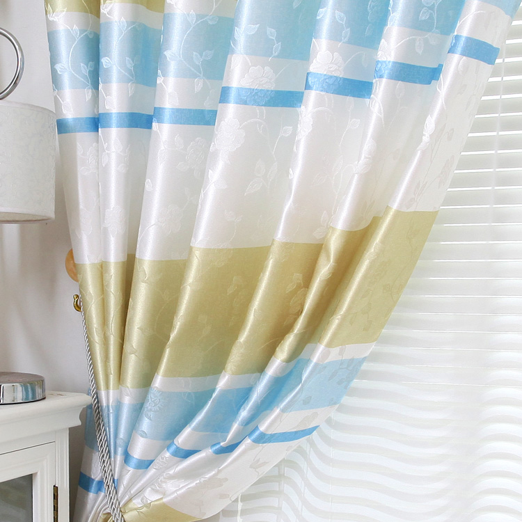 nautical striped printed polyester eco-friendly curtains , buy