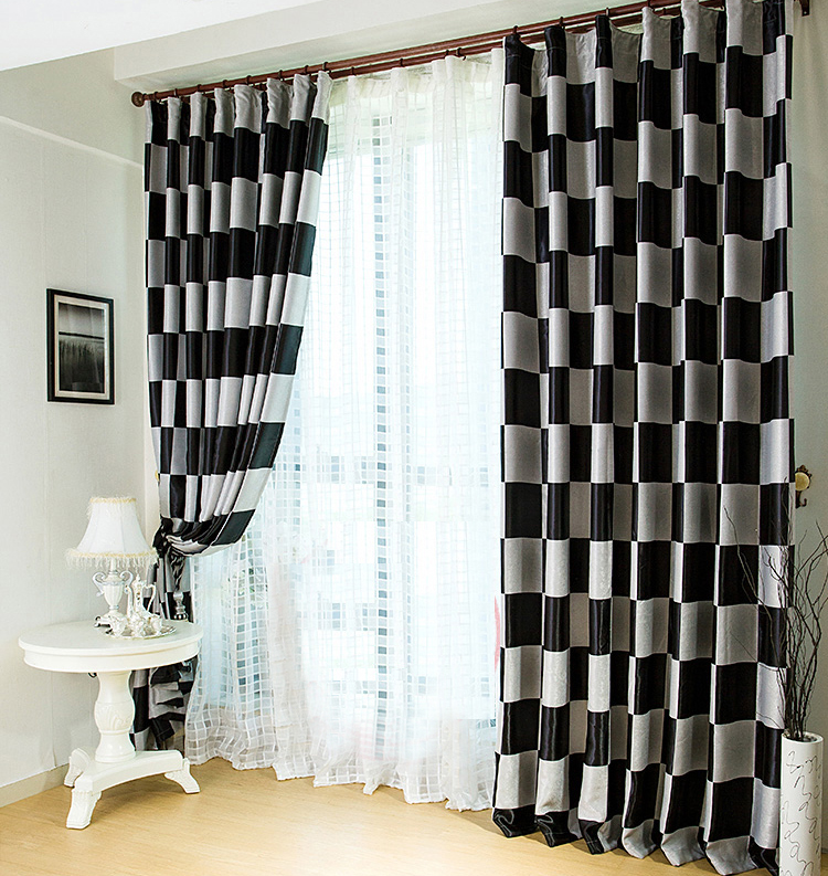 ... Modern Multi Color Plaid Blackout Curtains Made Of Polyester ...