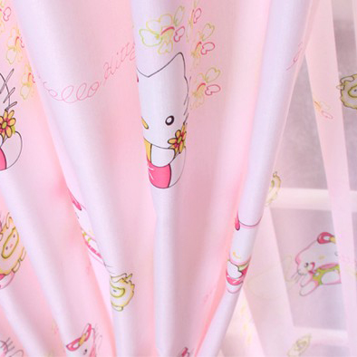 Sweet 2013 New Hello Kitty Blending Material Curtains for Girls