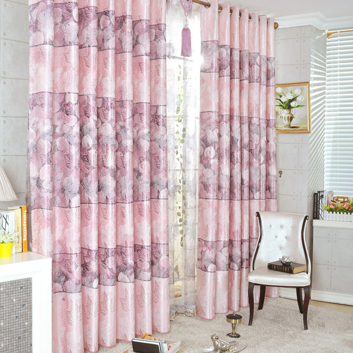 ... Striped Curtains In Pink. Loading Zoom