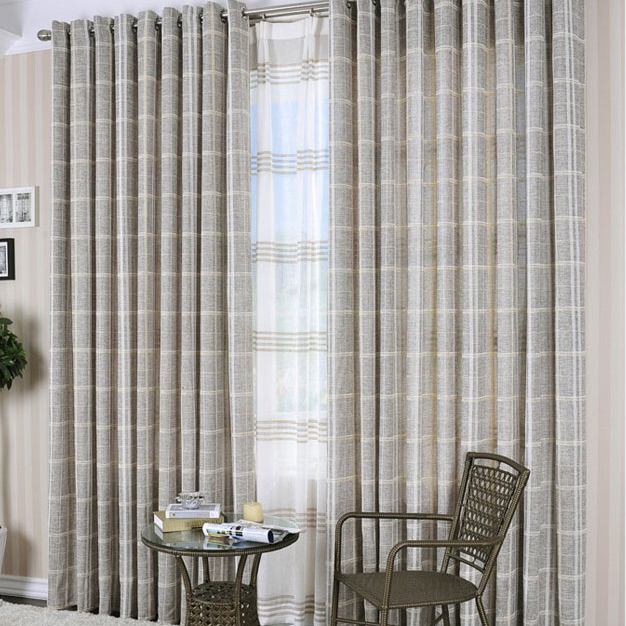 American Style Poly and Artificial Fiber Striped Curtains , Buy ...