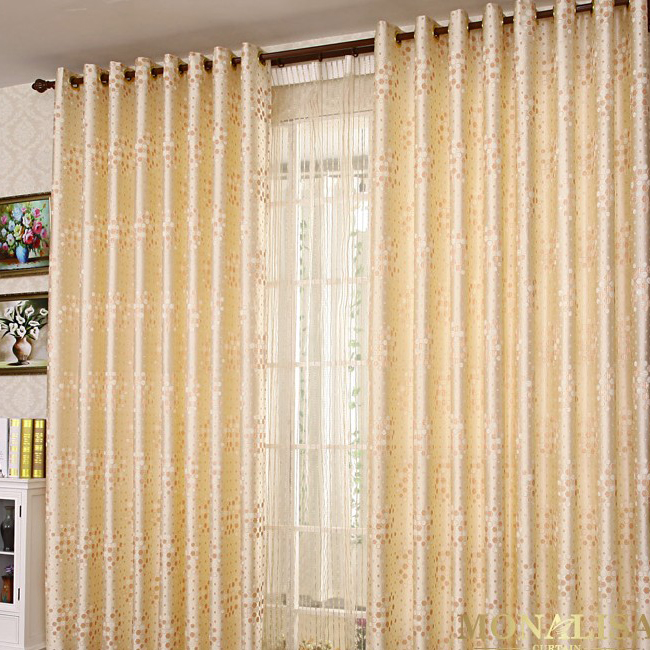 Curtains Ideas cheap curtains for sale : Beautiful Yellow Polka Dots Printed Eco-friendly Cotton and Poly ...