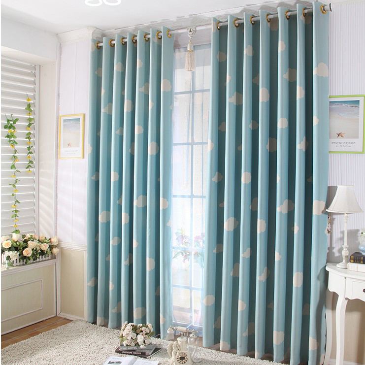 Gallery For Blue Bedroom Window Curtains