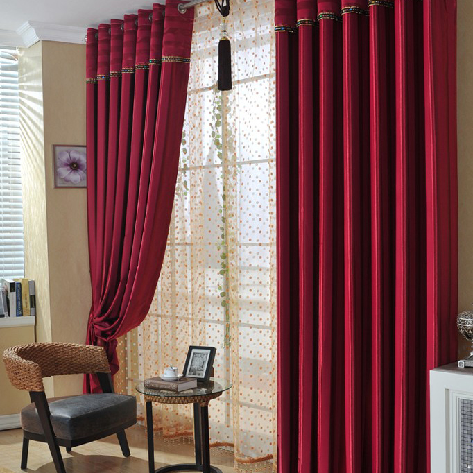 ... Red Polyester Blackout And Thermal Curtains. Loading Zoom