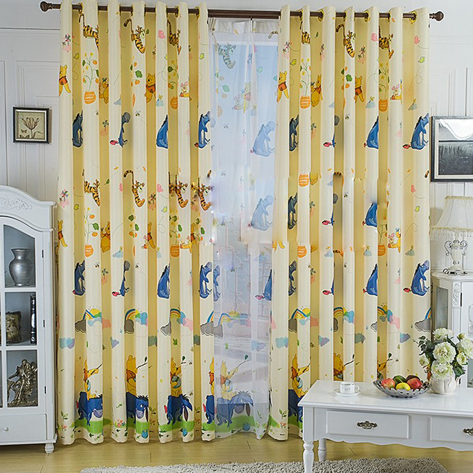 Cartoon Series Blackout Animal Polyester Children Room Curtain ...