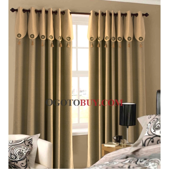 Casual Ivory Faux Linen Blackout Energy Saving Curtains