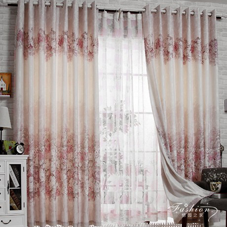 Curtains Ideas cheap curtains for sale : Charming Flower Jacquard Draped Bedroom Curtain for Nice Feeling ...