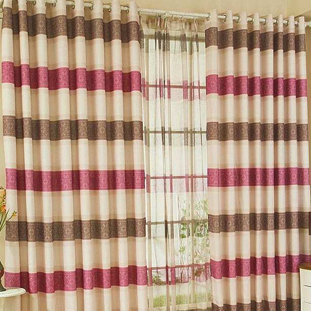 Charming Plaid and Striped Multi-color Curtains of Linen, Buy ...