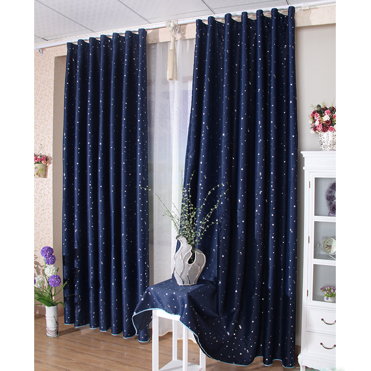 Elite Cheap Childrens Blackout Curtains In Navy Color