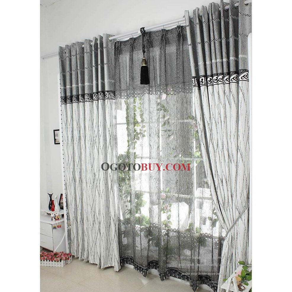 Cheap grey curtains - Loading Zoom
