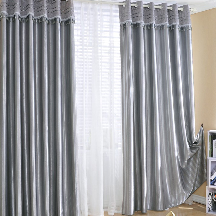 Attractive ... Blackout Heavy Grey Curtains. Loading Zoom