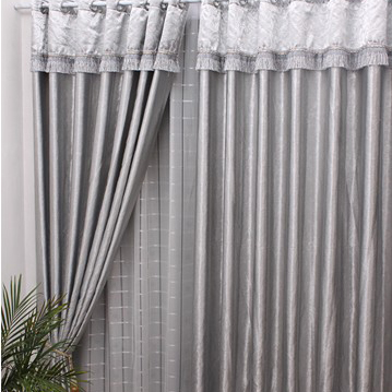 ... Blackout Curtains In Silver. Loading Zoom