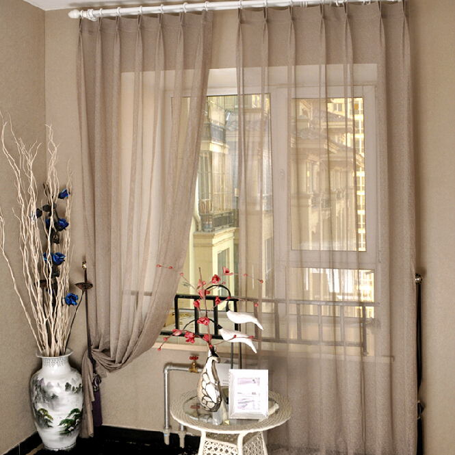 coffee colored sheer curtains for living room and bedroom , buy, Bedroom decor