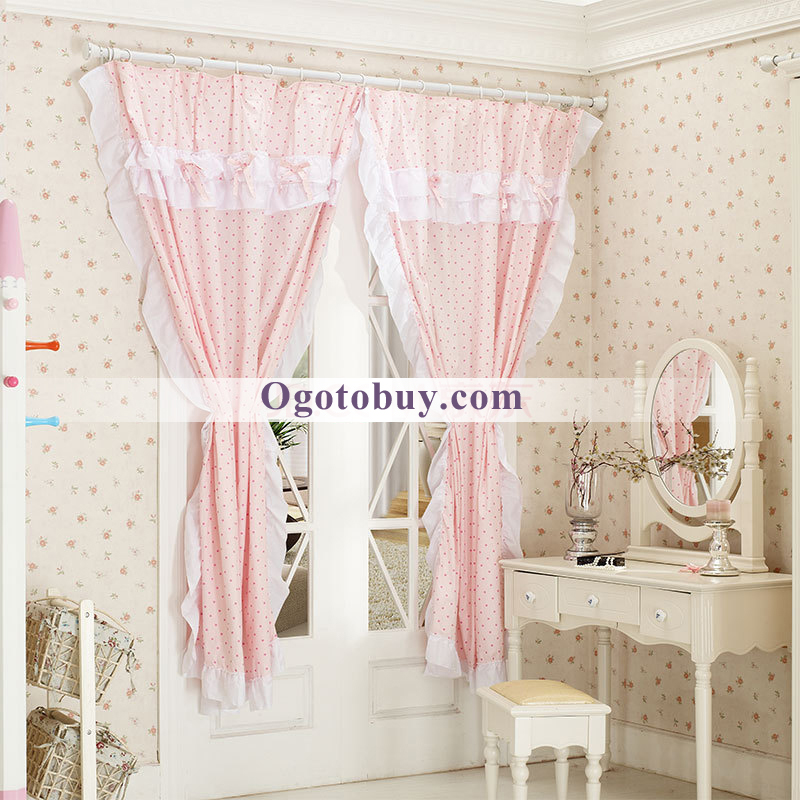 Country Pink Decorated Princess Style Cotton Bedroom Curtains  Loading  zoom. Country Pink Decorated Princess Style Cotton Bedroom Curtains  Buy