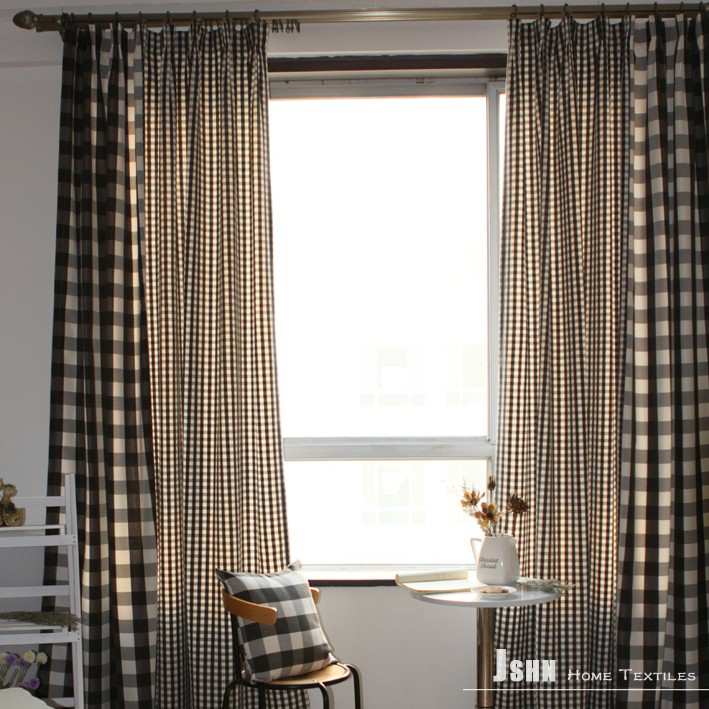 Black And White Patterned Curtains Beige and White Plaid Curtains