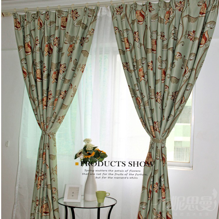 Loading Zoom Country Spring Polyester Fl Printed Curtains
