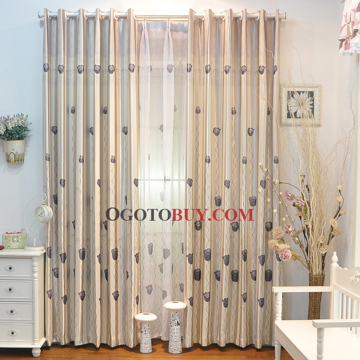 Ivory Polyester cheap curtains