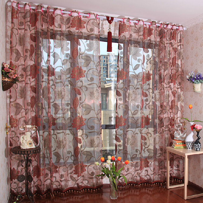 Custom Made Elegant Sheer Curtains of Polyester