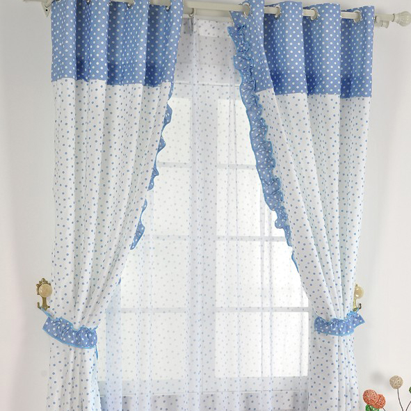 White curtains blue and white curtains inspiring for Blue and white drapery panels