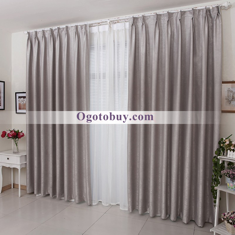 Dark Grey Solid Suede Thermal Bedroom Curtains Buy Grey jacquard