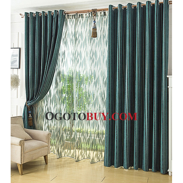 Curtains Ideas cheap curtains for sale : Teal Stripe Curtains - Curtains Design Gallery