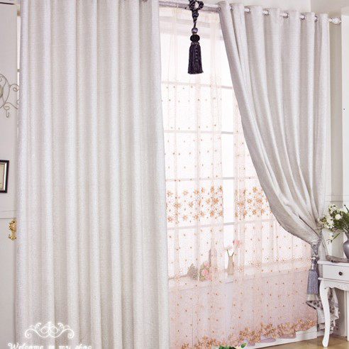 Discount Polyester And Cotton Bedroom Or Living Room Curtains In
