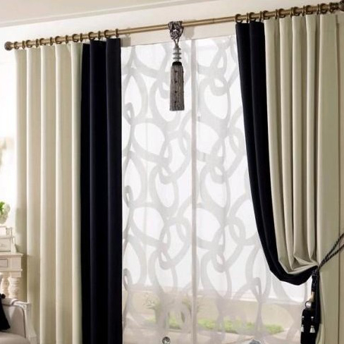 Curtains for living room buy online 2017 2018 best for Black and white curtain designs