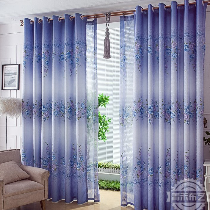 country style living room curtains.  Country Style Print Flower Purple Living Room Curtain Loading zoom Elegant