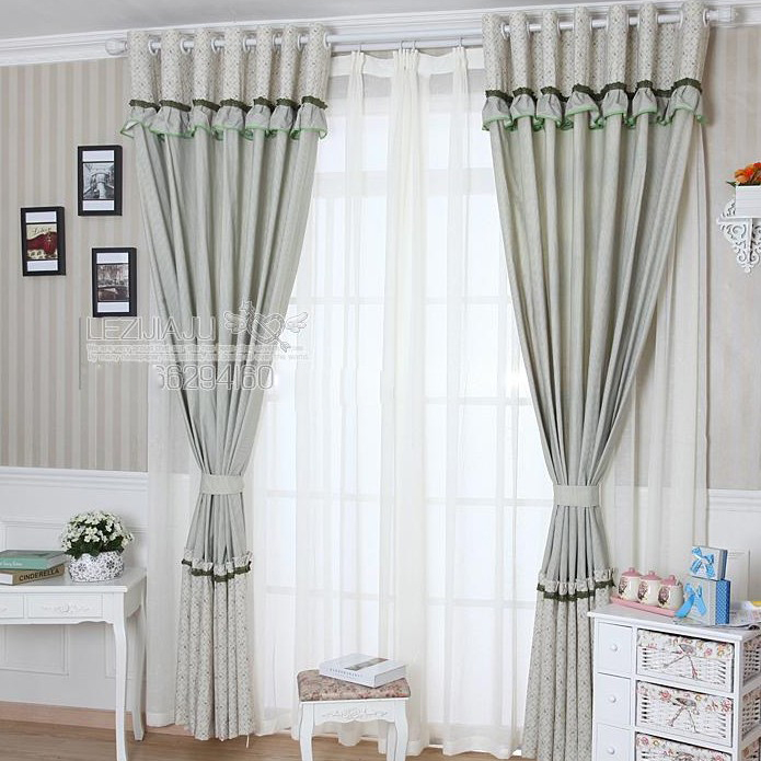 Loading Zoom. Elegant Lace And Floral Style Bedroom Curtains ...