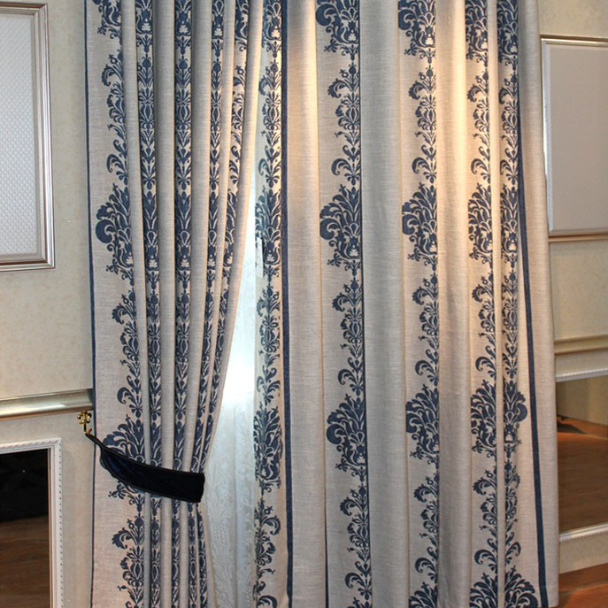 Curtains Ideas curtains for cheap : Elegant Linen Blending Material Geometrical Cotton Nice Curtains ...