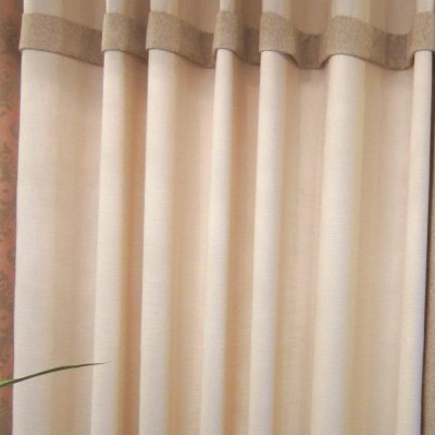 Elegant Solid Color Thick Living Room Curtains Buy Beige Print